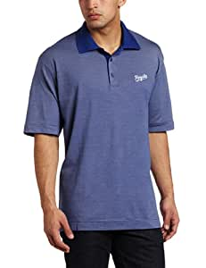 MLB Kasas City Royals Men's Drytec Resolute Polo Knit Short Sleeve Top, Tour Blue, Large