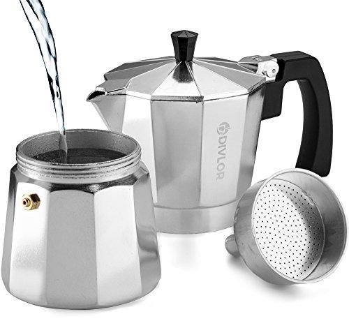 Stovetop Coffee Maker Gaskets : Divlor Stovetop Espresso Maker - Moka Pot, Aluminum Espresso Machine, 6 Cup, 2 Extra Gaskets ...