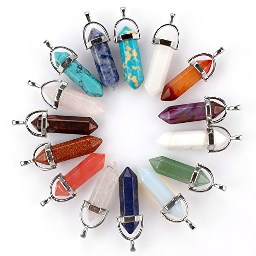 Healing crystals pendant by Aura - 15 Pieces - Reiki Crystals - chakra healing