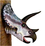 The King's Bay Huge Life Size Triceratops Wall Head Bust Sculpture Statue, Jurassic Park Dinosaur