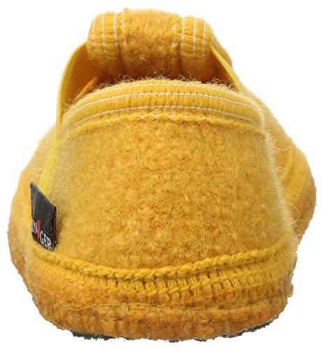 Haflinger Joschi 621002 - Zapatillas de casa de tela para niños Gelb (Mais)