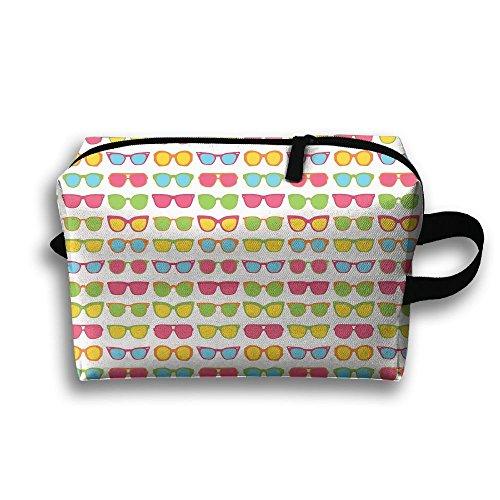 Sunglasses Travel Bag Cosmetic Bags Brush Pouch Portable Makeup Bag Zipper Wallet Hangbag Pen Organizer Carry Case Wristlet - Gif Sunglasses