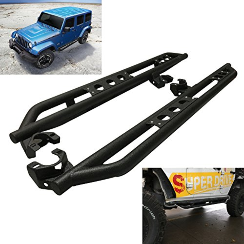 RAFTUDRIVE Black Side Step Nerf Bar Running Boards Fit 2007–2016 Jeep JK Wrangler all 4 door models