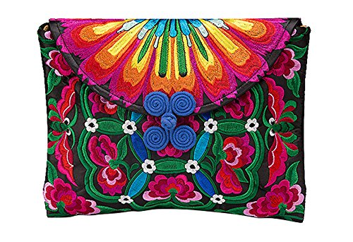 100% Handmade Handbag Purse Pochette - Belle Oriental Ricamo Art # 163
