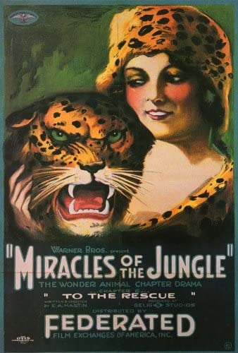 Miracles of the jungle 1921 vintage movie poster print