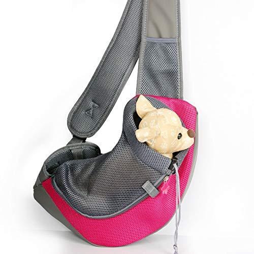 Animale domestico Lovely Pretty Beautiful Fashion Confortevole cane e gatto Sling Carrier Hands Free reversibile pet sacchetto di Papoose, dimensioni  piccolo conveniente ( colore   Magenta )
