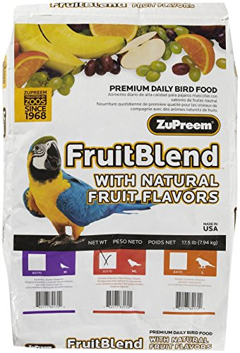 Conure Fruit Blend (ZuPreem Fruit Blend Medium Large for Parrot/Conure - 17.5 lb)