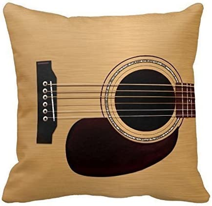 Amazon Com Spruce Top Acoustic Guitar Throw Pillows Custom Throw Pillow Case Personalized Cushion Cover Pillowcase Square Pillow Cover 16x16 Home Kitchen