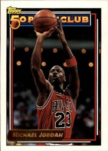 1992 Topps Gold Basketball Card (1992-93) #205G Michael Jordan Near (1992 Topps Gold Card)