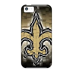 AaronBlanchette Iphone 5c Shock-Absorbing Cell-phone Hard Cover Customized High Resolution New Orleans Saints Pattern [ZNt10106MFDS]