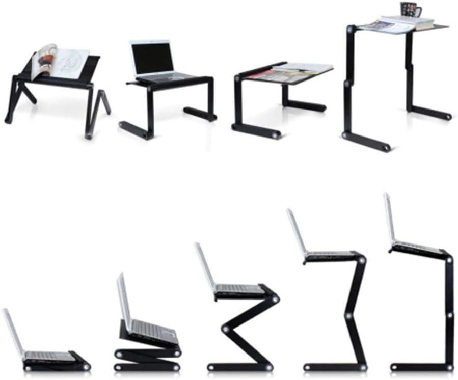 Docooler Laptop-Tischst/änder Tragbarer mobiler Laptop Stehender Schreibtisch mit Mauspad Voll ergonomische Halterung Laptop Buchen Ultraleicht Aluminium-Bettablage-Schreibtisch