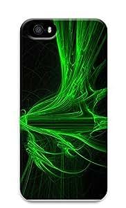 iPhone 5 5S Case Colorful green Light 3D Custom iPhone 5 5S Case Cover Kimberly Kurzendoerfer