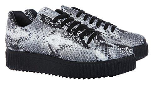 J. by Janiko Soju JBJ0021 Damen Sneakers Pyton Matt Grigio
