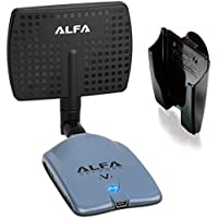 Alfa AWUS036NHV 802.11n High Power 5000mW Wireless-N USB Wi-Fi adapter w/ Removable 7dBi Panel Antenna & Suction Cup Mount - 802.11 B/G/N - 150Mbps