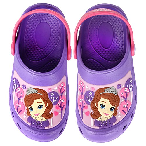 Joah Store Girls Purple Slippers Clog Mule EVA Sofia The First Shoes (Parallel Import/Generic Product) (8 M US Toddler) -