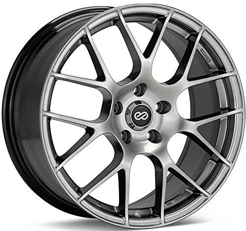 18x8 Enkei Raijin (Hyper Silver) Wheels/Rims 5x114.3 (467-880-6545HS)