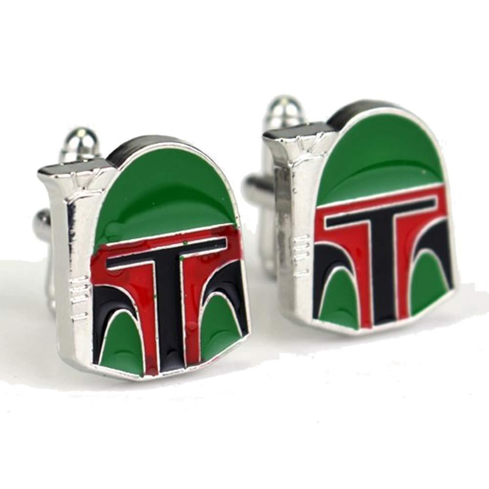 Geek & Glitter Star Wars Boba Fett Cufflink Set Box | The Last Jedi Gifts, A New Hope, Gifts for Men (Boba Fett)