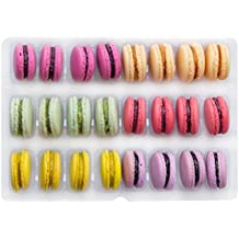 24 Macarons Mix - French Cookies - Baked Upon Order Macaroons with Recipe from France - 12 Flavors