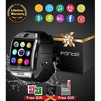 Bluetooth Smart Watch With Camera Waterproof Smartwatch Touch Screen Phone Unlocked Watch Cell Phone Smart Wrist Watch Cell Phone Watch For Android Phones Samsung IOS Iphone 7 Plus 6S Men Women Kids
