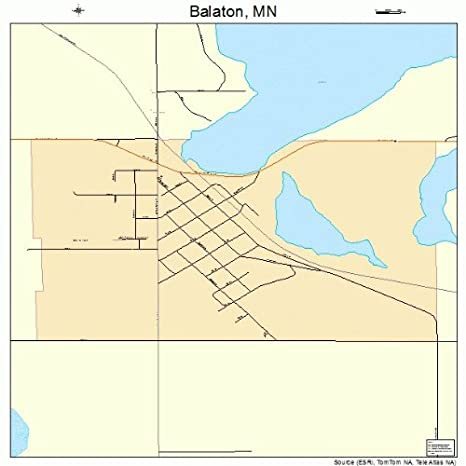 Amazon.com: Large Street & Road Map of Balaton, Minnesota MN ...