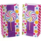Lot Of 12 Candy Lolli Pop Sucker Design Paper Party Bags