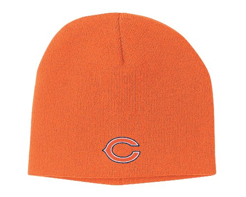 NFL Men's End Zone Uncuffed Knit Hat - K173Z (Chicago Bears, One Size Fits All)
