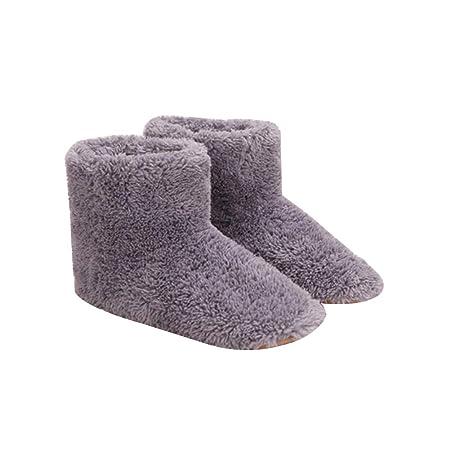 LYXMY Calentador de pies de Invierno Zapatos de ...