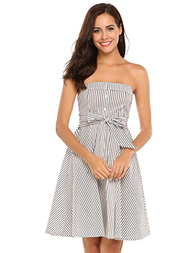 Belted Button Strap Dress - 8