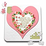 BLN Vintage Valentines Day Designs - Victorian Heart Framed with Pink Roses and a Love Poem - 10x10 Inch Puzzle (pzl_170263_2)