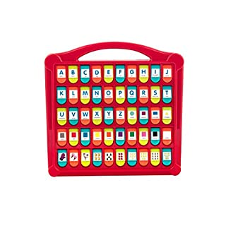 """Battat – Hide & Seek Alphabet Pop-Up – 50 Shapes Colors Letters Numbers – Learning Toys for Toddlers – Phthalates & Bpa Free, Red - Lime - Sea - Coral, 13"""" (Large) x 11.6"""" (W) x 1.5"""" (H) (BT2532Z)"""