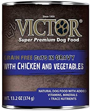 Victor Canned Grain Free Cuts in Gravy with Chicken and Vegetables ...