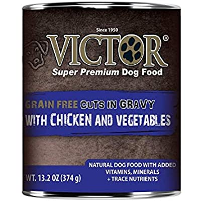 Victor Canned Grain Free Cuts in Gravy with Chicken and Vegetables Dog Food 13.2oz 12 cans