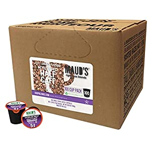 Maud's Gourmet Coffee Pods - World's Best Half Caff, 100-Count Single Serve Coffee Pods - Richly Satisfying Premium Arabica Beans, California-Roasted - Kcup Compatible, Including 2.0