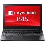 東芝 PB45BNAD4RAPD11 dynabook B45/B:Celeron 3855U、15.6、4GB、500GB_HDD、SMulti、WiFi+BT、10Pro、OfficePSL