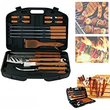 ... PCS Stainless Steel Outdoor Steak Grill Set Utensils Tools for Camping Outdoor Activities Handle Brush Pinceis Blade Fork Tongs BBQ Tools barbacoa GR-4