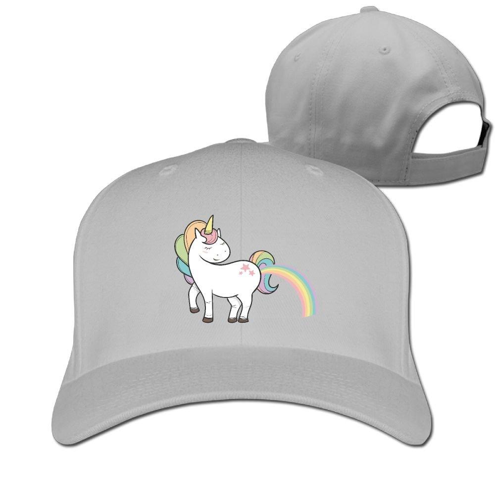 PWLLS Unisex Farts Cool Rainbow Unicorns Novelty Baseball Cap Adjustable Hat for Outdoor /& Home