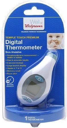 Amazon Com Walgreens Termometro Digital De Templo 1 Ea Health Personal Care Medición sin necesidad de contacto: walgreens termometro digital de templo