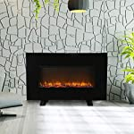 Wonlink Portable Electric Fireplace Heater?2 Element Quartz Infrared Space Heater with 3D Flame Effect
