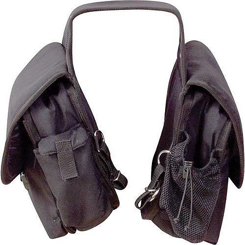 Cashel Quality Deluxe Horse Saddlebag, Padded Pockets Color: Black (Deluxe Trail Saddle)