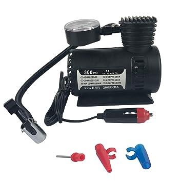 Babysbreath17 12V 300PSI rápido Que infla el Coche eléctrico Compacto Mini compresor de Aire de la Bici de la Bomba para inflar con Aire del neumático Cama ...
