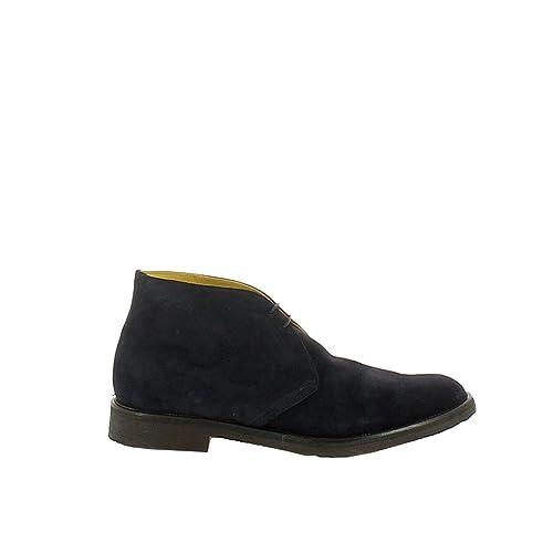 Saxone Hombre 503Otter562 Azul Gamuza Botines: Amazon.es: Zapatos y complementos
