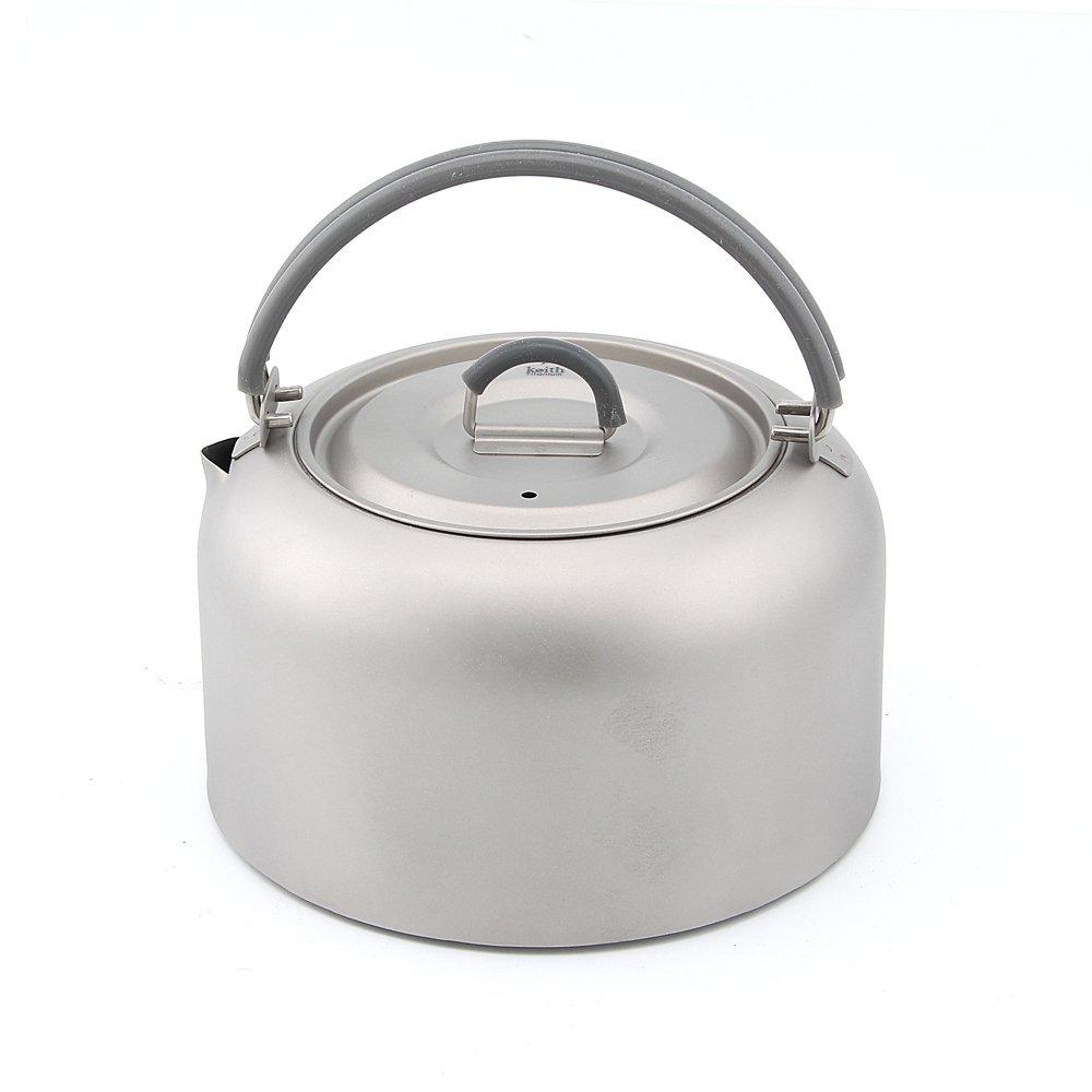 Keith 1l-1.5l Titanium bouilloire ultral/éger bouilloire de camping en plein air Cuisine Pot de th/é