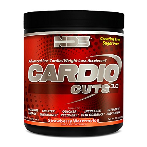 NDS Nutrition Cardio Cuts 3.0 - Advanced Weight Loss Formula with L-Carnitine - Maximum Energy, Greater Endurance, Faster Recovery, Increased Performance - Strawberry Watermelon - 40 ()