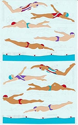 Mrs. Grossman's Giant Stickers - Swimmers - Swimming - 2 Strips supplier:stuffgirl04 - Mrs Grossmans Sticker Strips