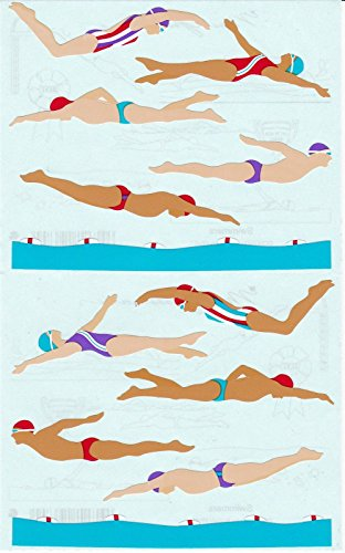 Mrs. Grossman's Giant Stickers - Swimmers - Swimming - 2 Strips supplier:stuffgirl04 ()