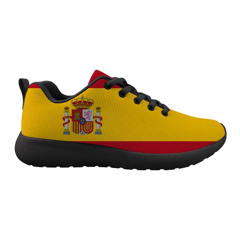 Owaheson Cushioning Sneaker Trail Running Shoe Mens Womens Spain Flag