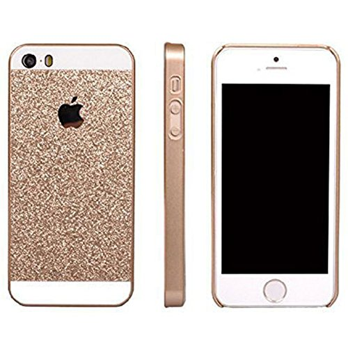 iPhone 5s/6s Hülle,EinsAcc Gold PC Hart Glitter Hülle Case Backcover für iPhone 5s/6s (für iPhone 5s)