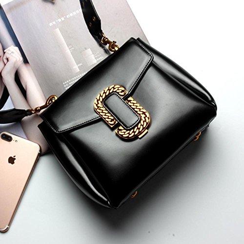 Aoligei Large ceinture d'épaule paquet locomotive nouveau cuir femme Baotan épaule sac main côté sac messager C
