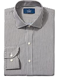 Amazon Brand - BUTTONED DOWN Men's Slim Fit Stripe Dress Shirt, Supima Cotton Non-Iron