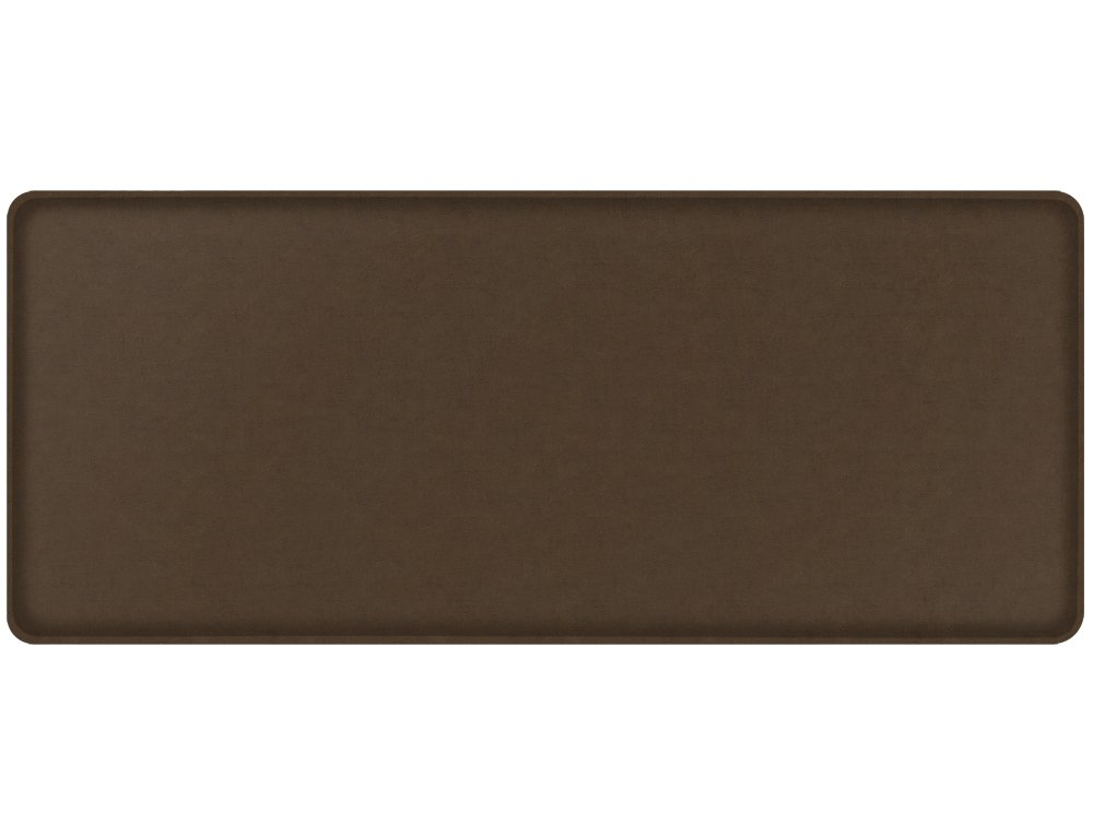 """GelPro Classic Anti-Fatigue Kitchen Comfort Chef Floor Mat, 20x48"""", Vintage Leather Rustic Brown Stain Resistant Surface with 1/2"""" Gel Core for Health and Wellness"""